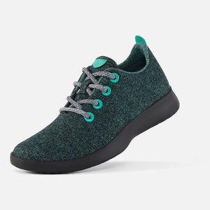 Allbirds Dark Kea Green Wool Runner Shoes Size 7
